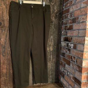 Women's Plus Dark Green Slim Leg Jeans Size 18W